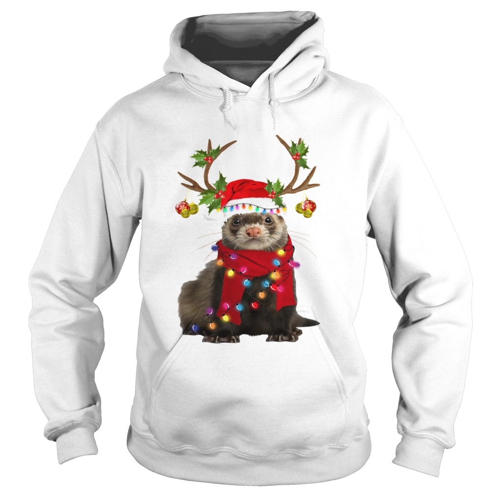 Otter gorgeous reindeer light Christmas  Hoodie