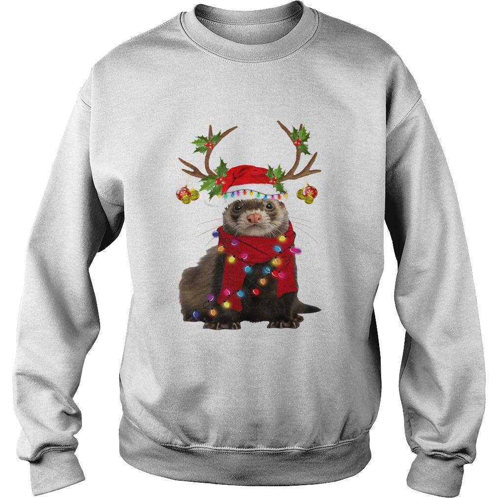 Otter gorgeous reindeer light Christmas  Sweatshirt