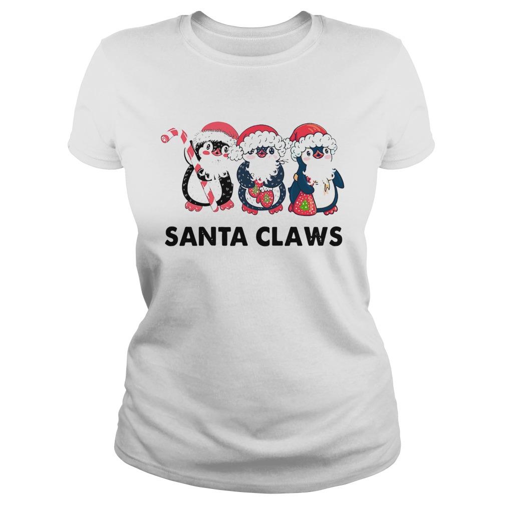 Penguins Santa Claws  Classic Ladies