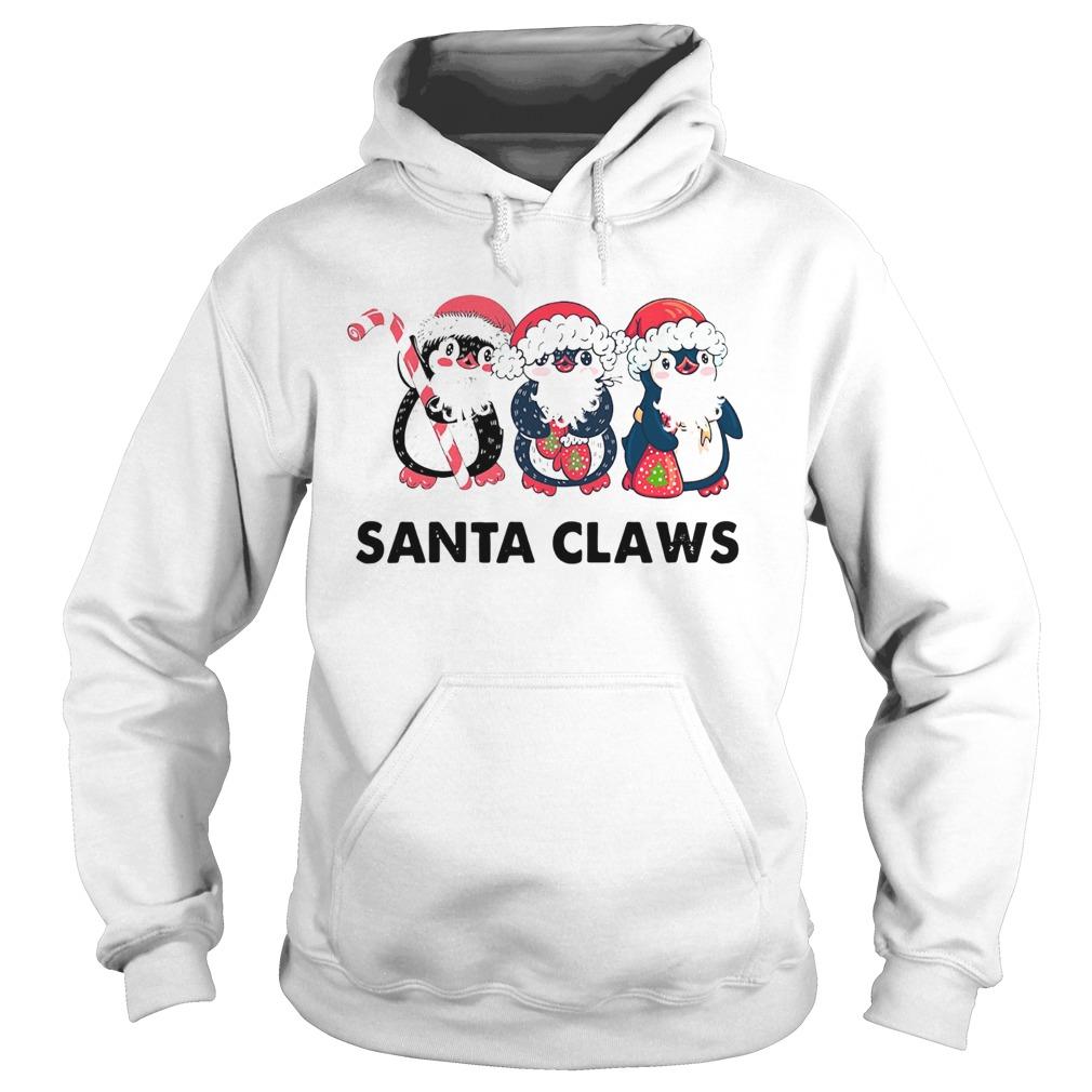 Penguins Santa Claws  Hoodie