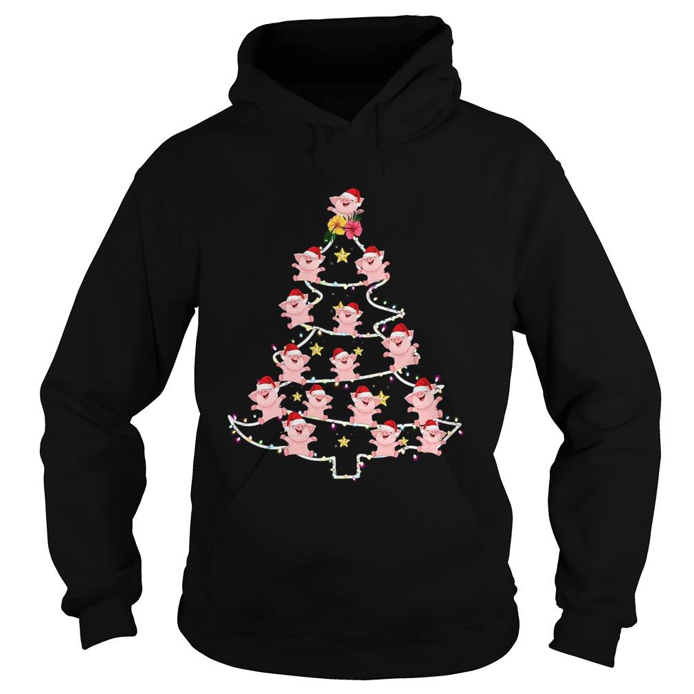 Pigs Santa Christmas Tree  Hoodie