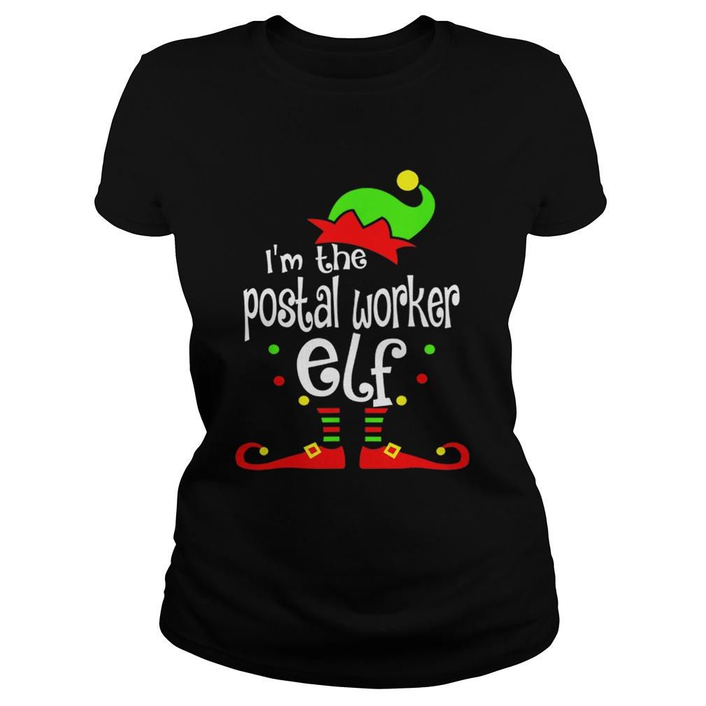 Postal Worker Elf Christmas Costume Mom Dad Xmas  Classic Ladies