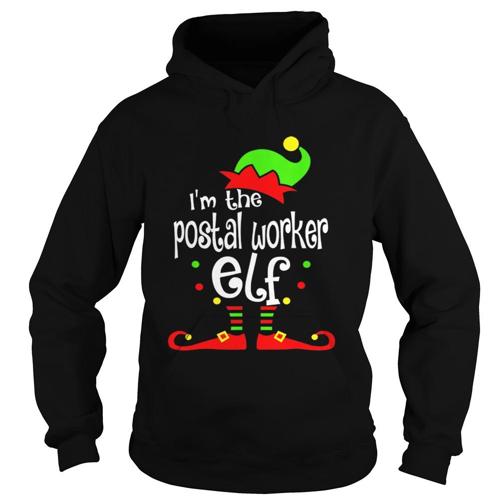 Postal Worker Elf Christmas Costume Mom Dad Xmas  Hoodie