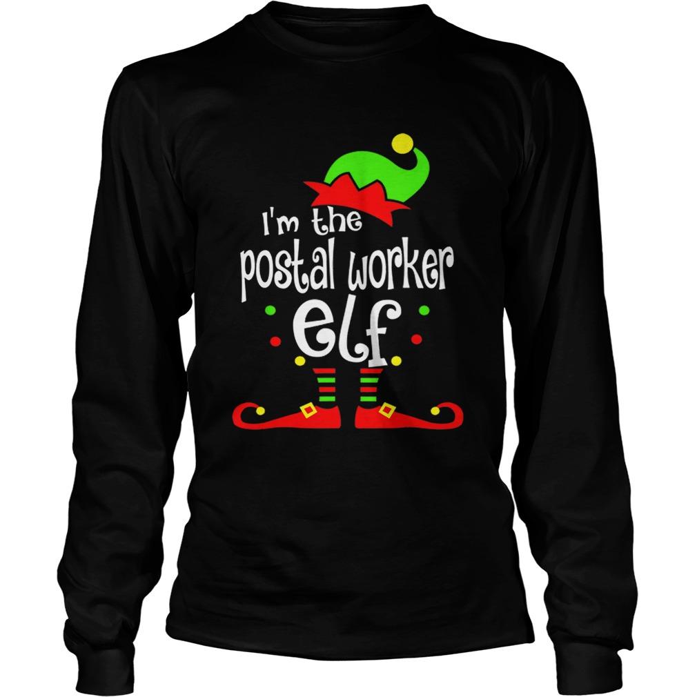 Postal Worker Elf Christmas Costume Mom Dad Xmas  LongSleeve