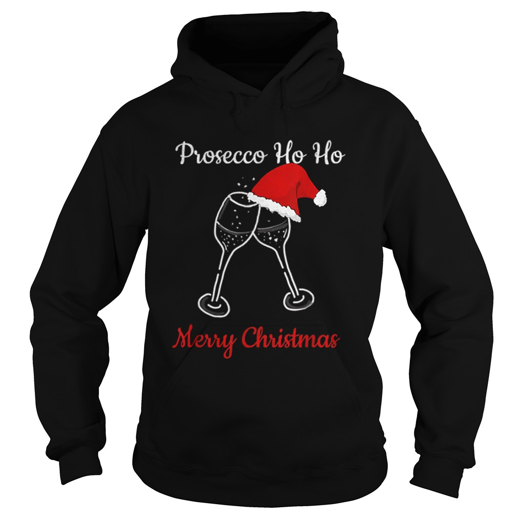Prosecco Ho Ho Christmas Party Hat Champagne  Hoodie