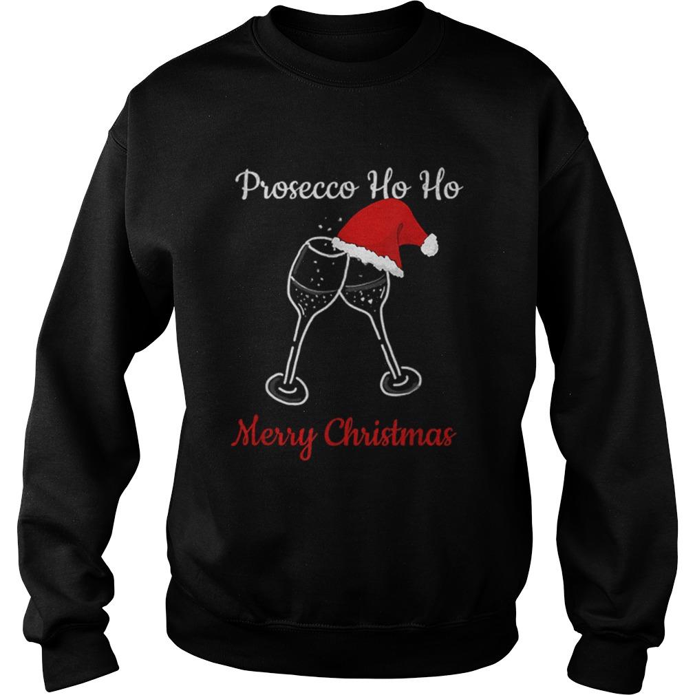 Prosecco Ho Ho Christmas Party Hat Champagne  Sweatshirt