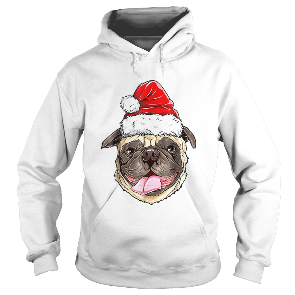 Pug Santa Christmas Kids Boys Girls Xmas Gifts Hat  Hoodie