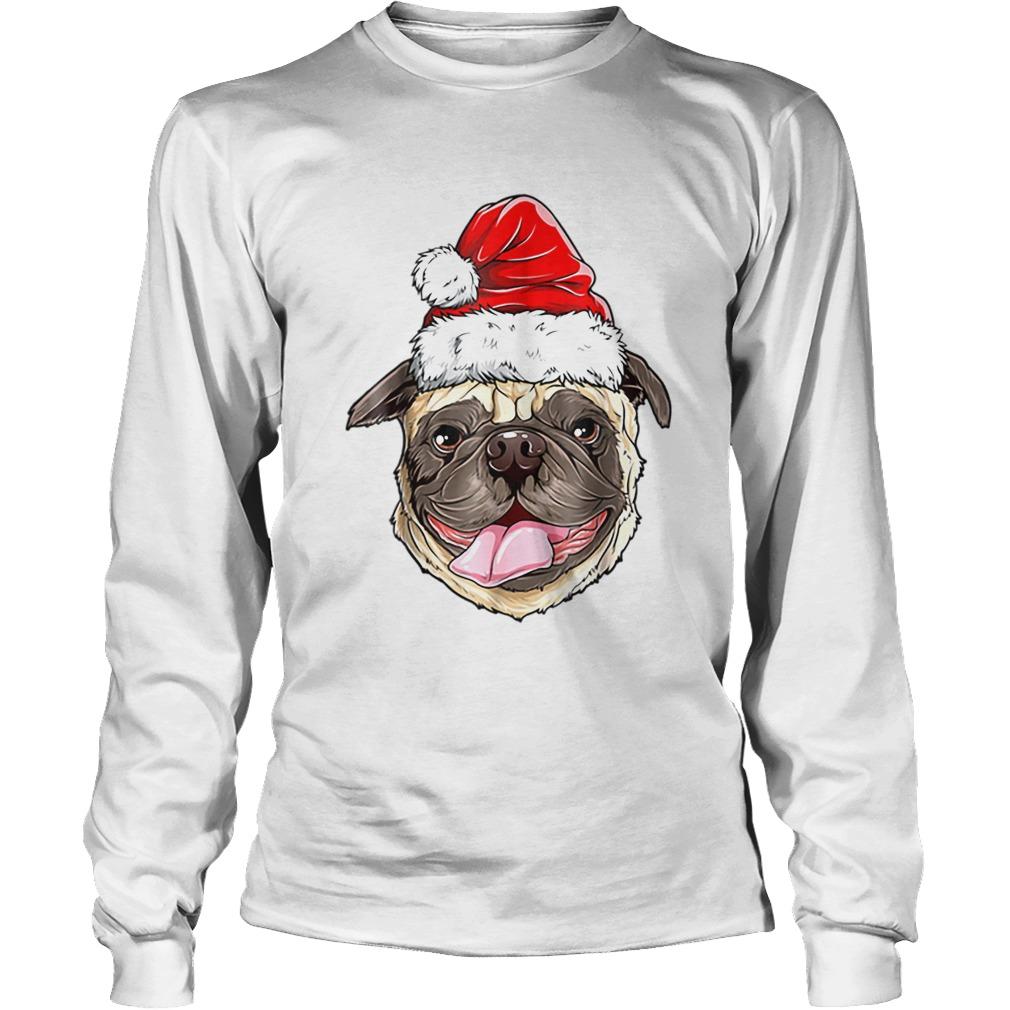Pug Santa Christmas Kids Boys Girls Xmas Gifts Hat  LongSleeve