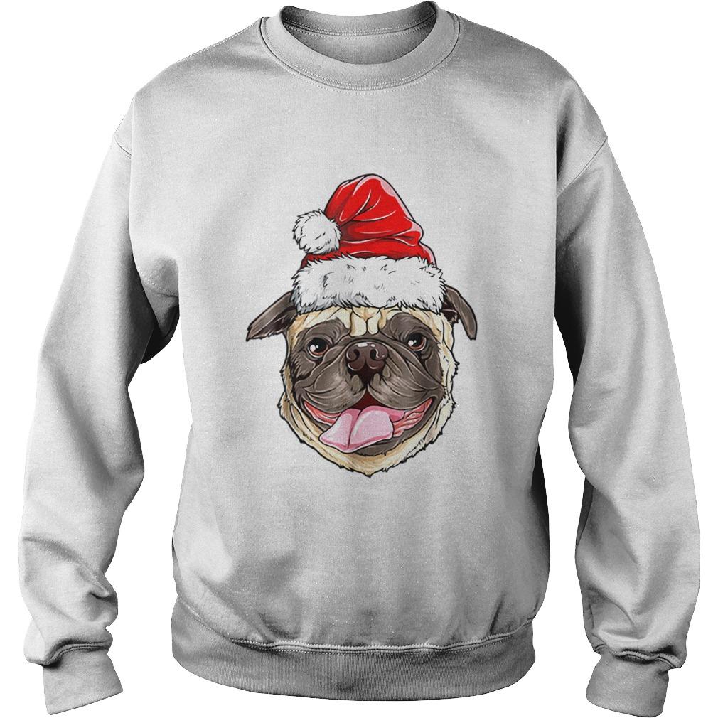 Pug Santa Christmas Kids Boys Girls Xmas Gifts Hat  Sweatshirt