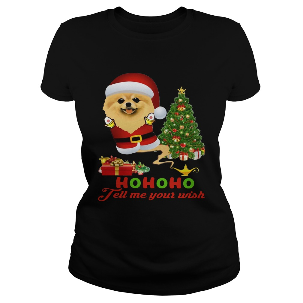 Qhn 8 Tell Me Your Wish Christmas Pomeranian  Classic Ladies