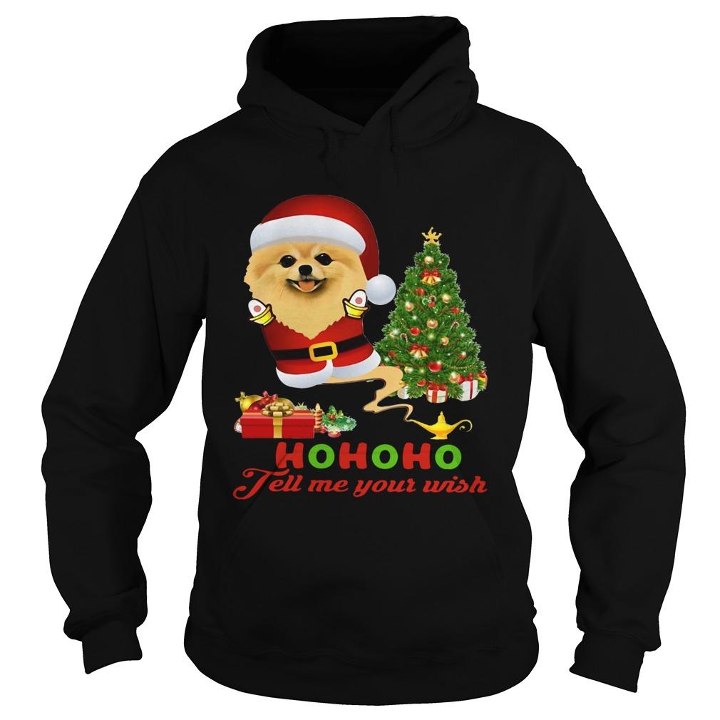 Qhn 8 Tell Me Your Wish Christmas Pomeranian  Hoodie
