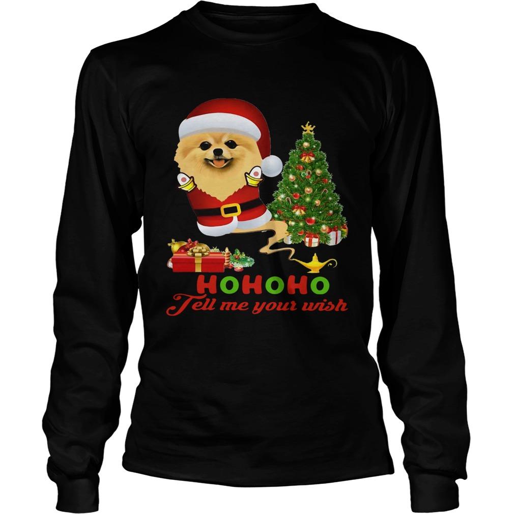 Qhn 8 Tell Me Your Wish Christmas Pomeranian  LongSleeve
