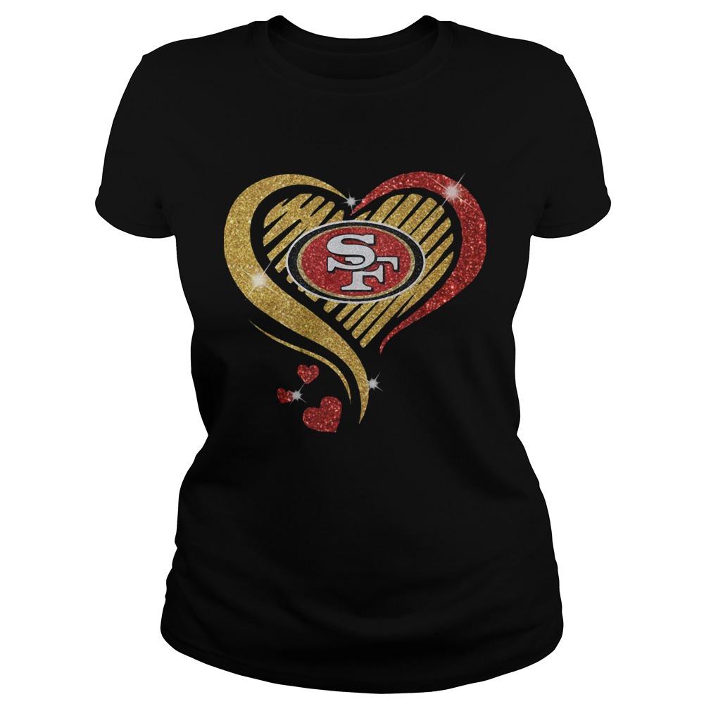 San Francisco 49er Heart Diamond  Classic Ladies