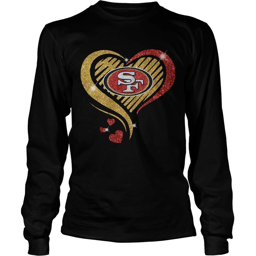 San Francisco 49er Heart Diamond  LongSleeve