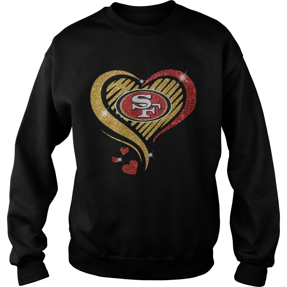 San Francisco 49er Heart Diamond  Sweatshirt