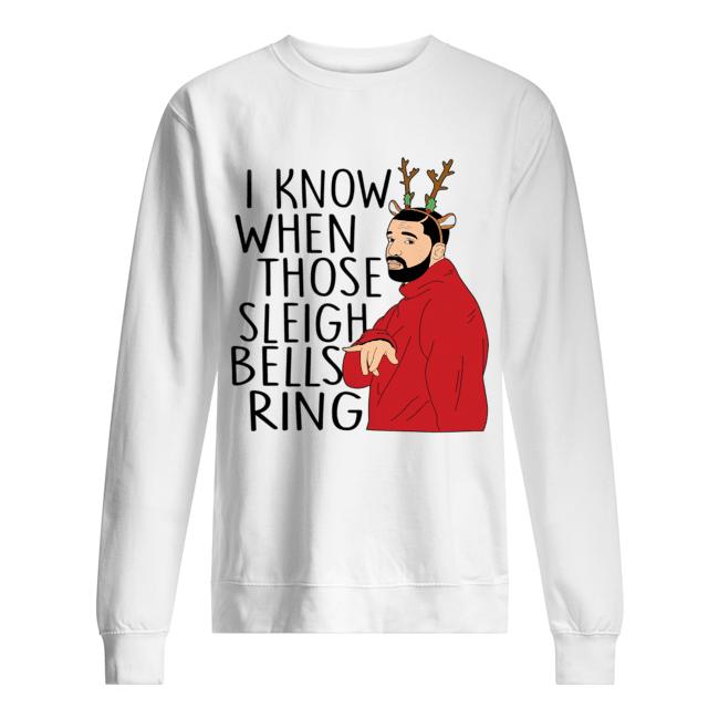 Santa Fake I know when those sleigh bells rings christmas  Unisex Sweatshirt