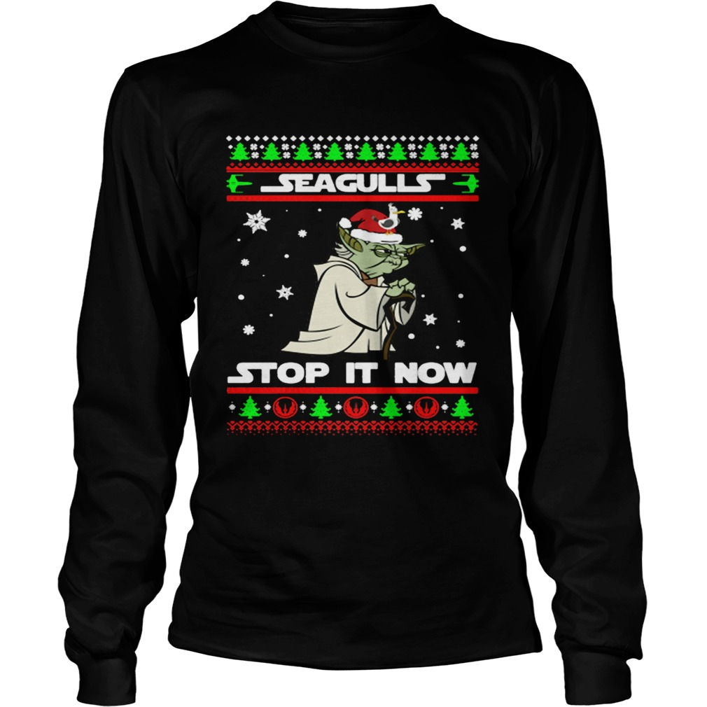 Santa Yoda Seagulls stop it now Christmas  LongSleeve