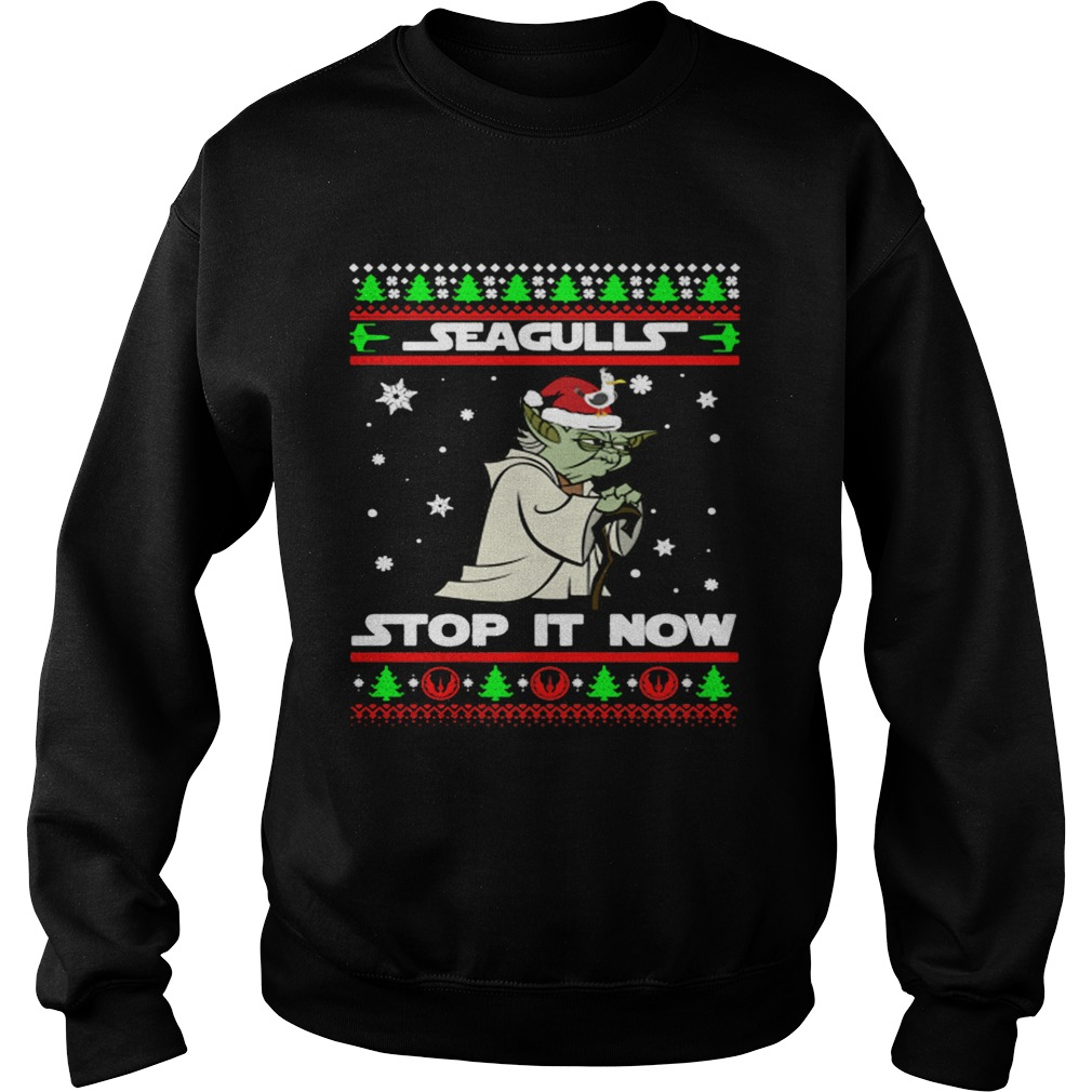Santa Yoda Seagulls stop it now Christmas  Sweatshirt