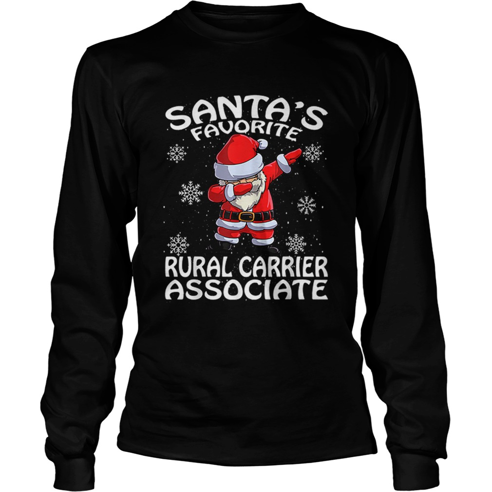 Santas Favorite Rural Carrier Associate Funny Christmas  LongSleeve