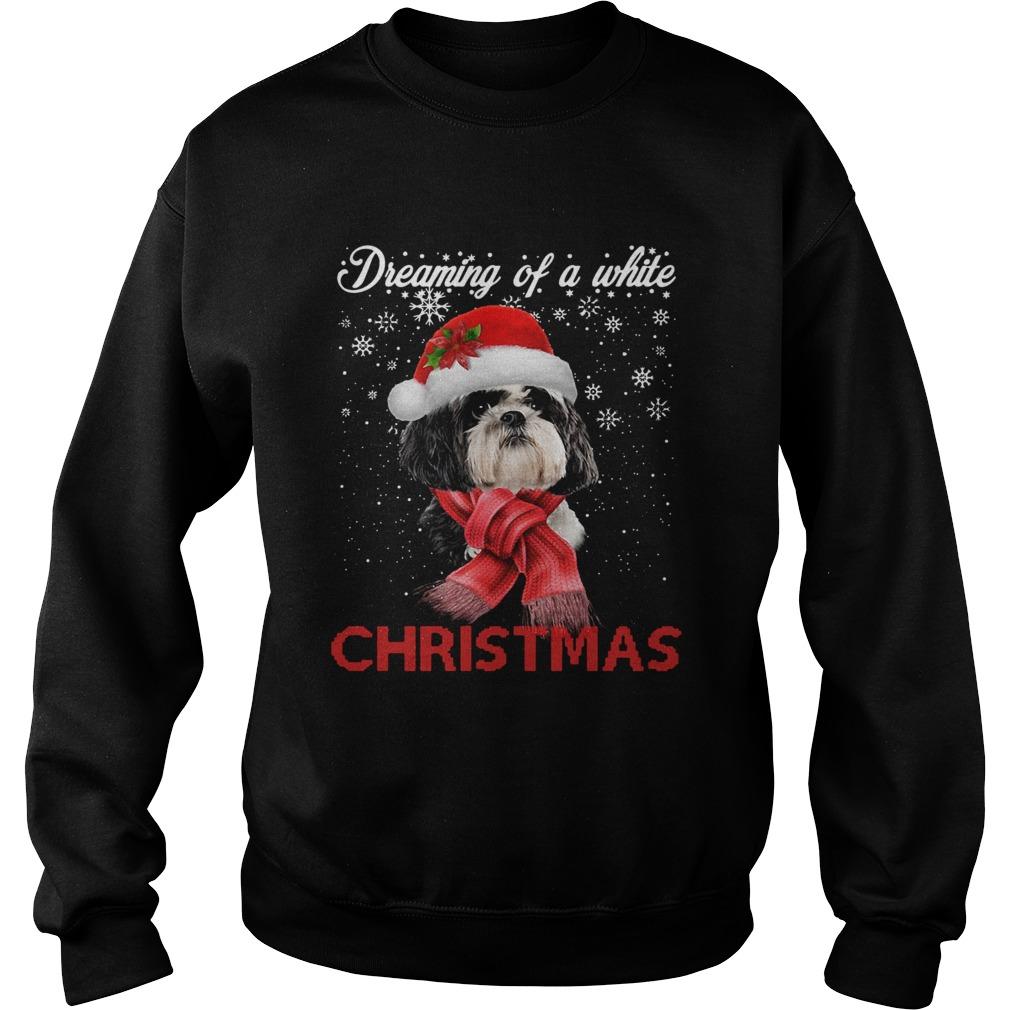 Shih tzu a white christmas Crewneck  Sweatshirt