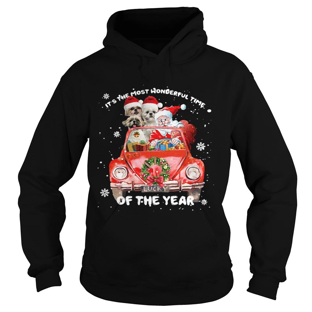 Shihtzu Wonderful Time Of The Year Christmas  Hoodie