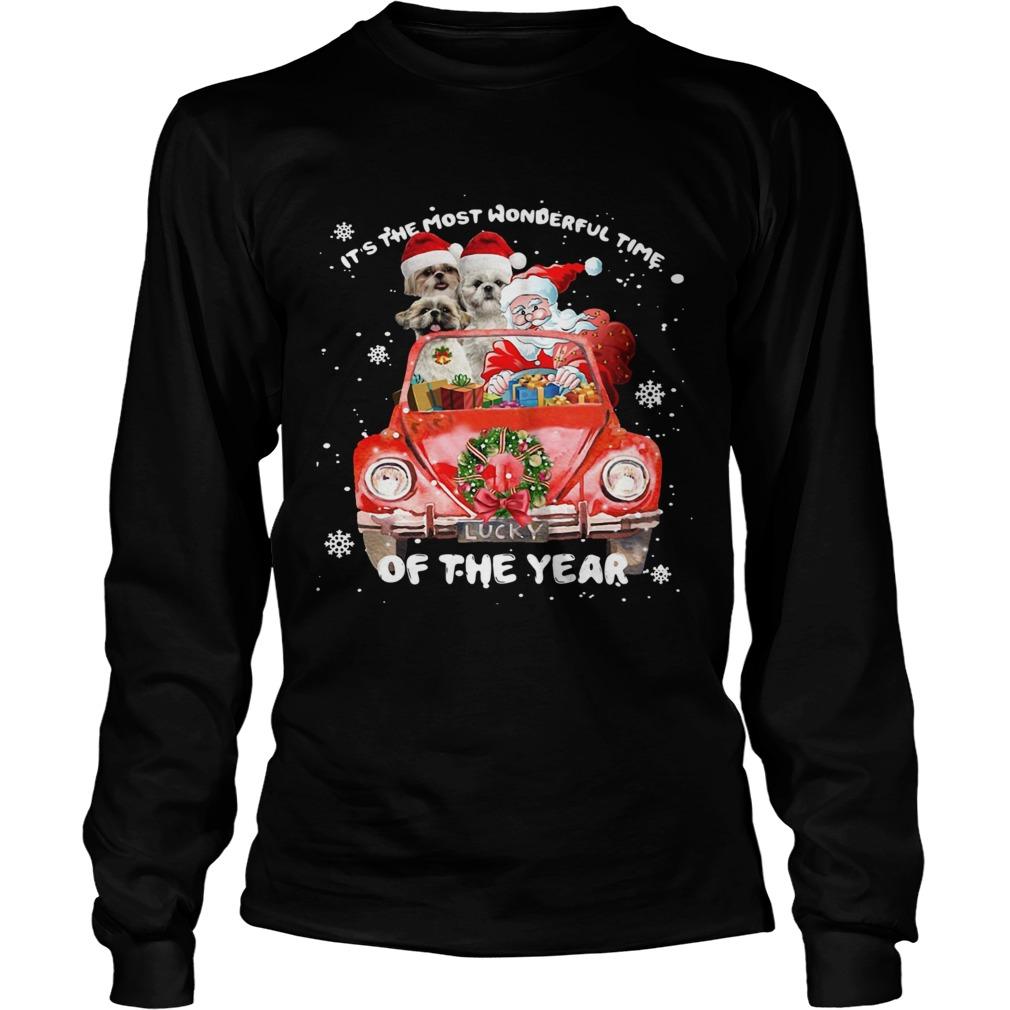 Shihtzu Wonderful Time Of The Year Christmas  LongSleeve
