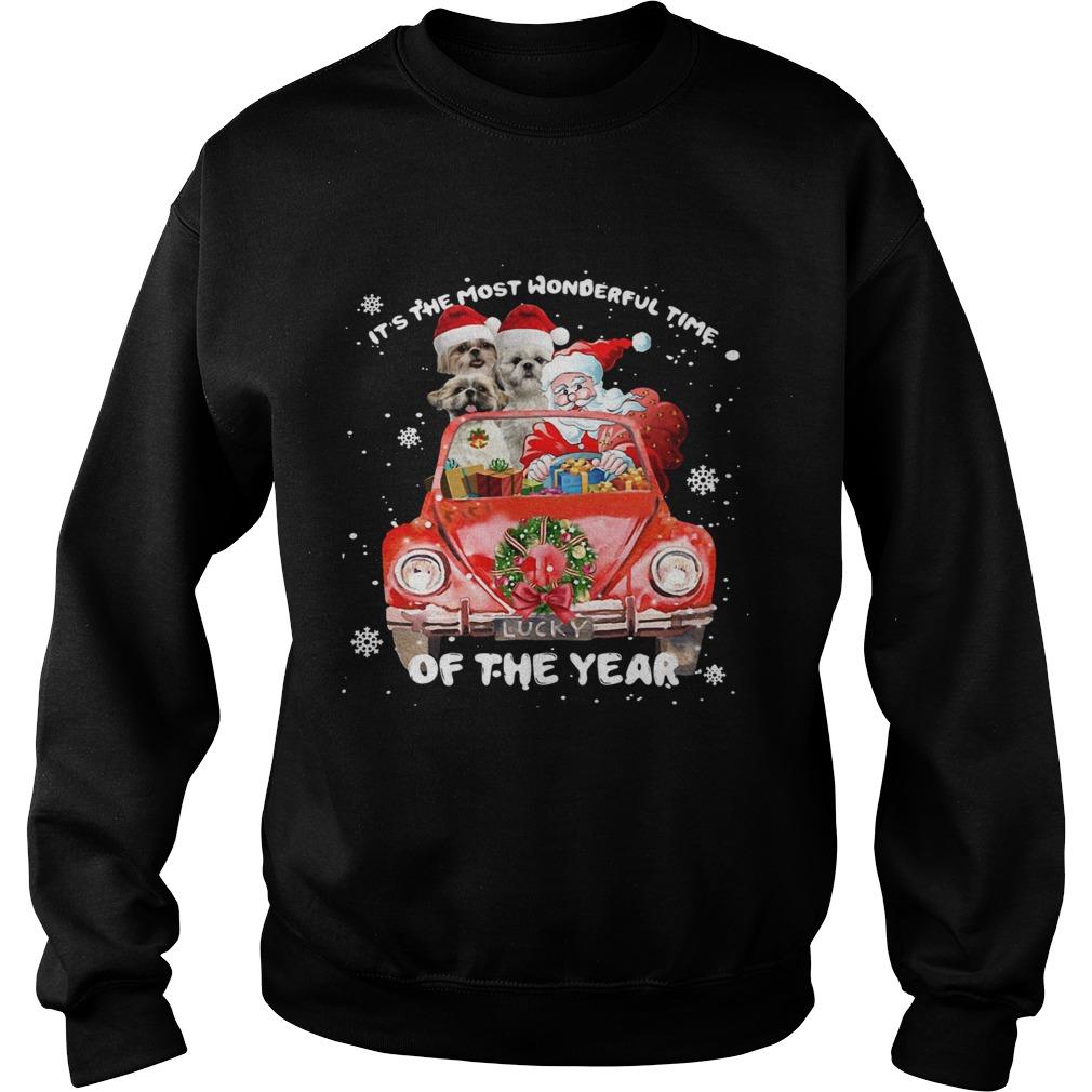Shihtzu Wonderful Time Of The Year Christmas  Sweatshirt
