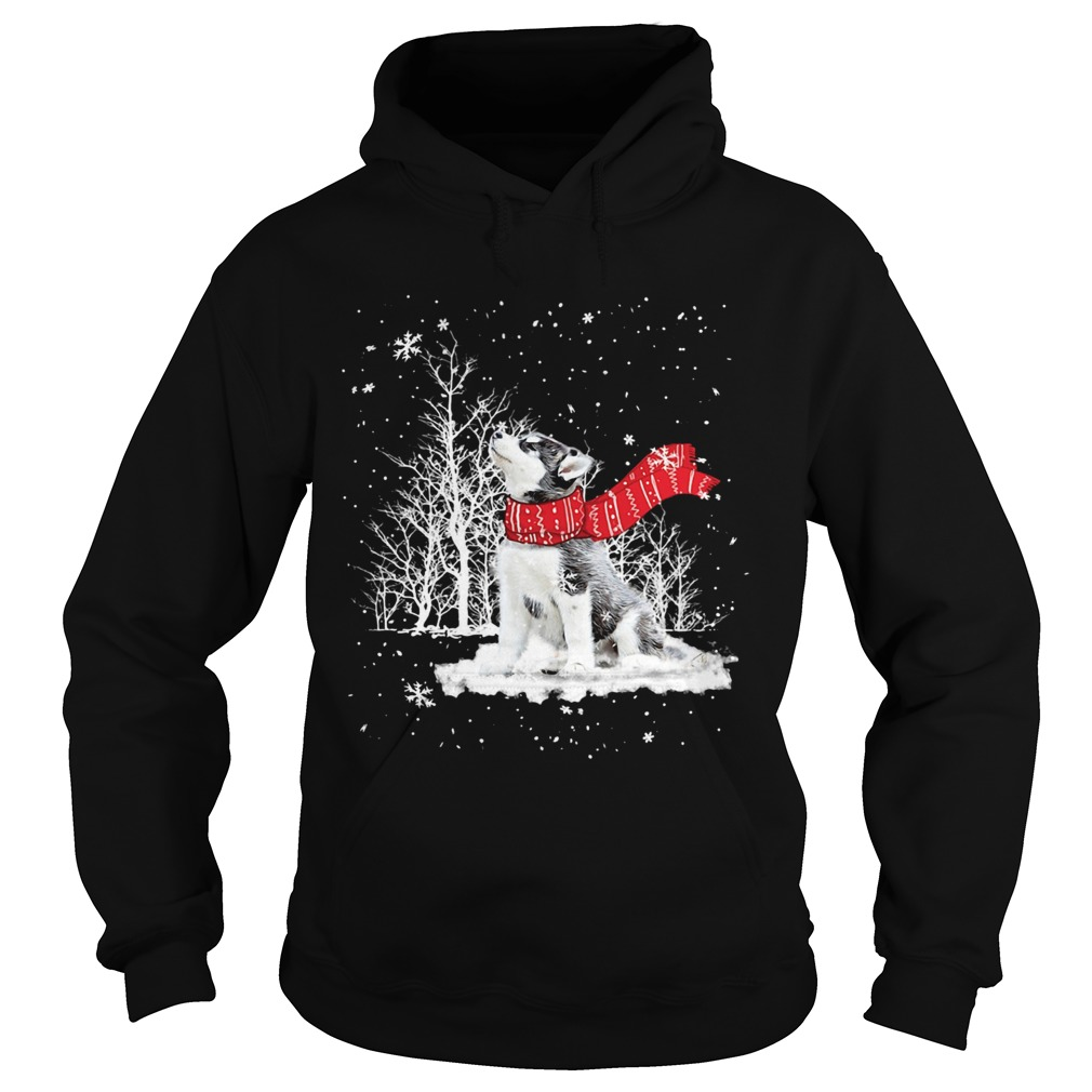 Siberian Husky Snow Crewneck  Hoodie