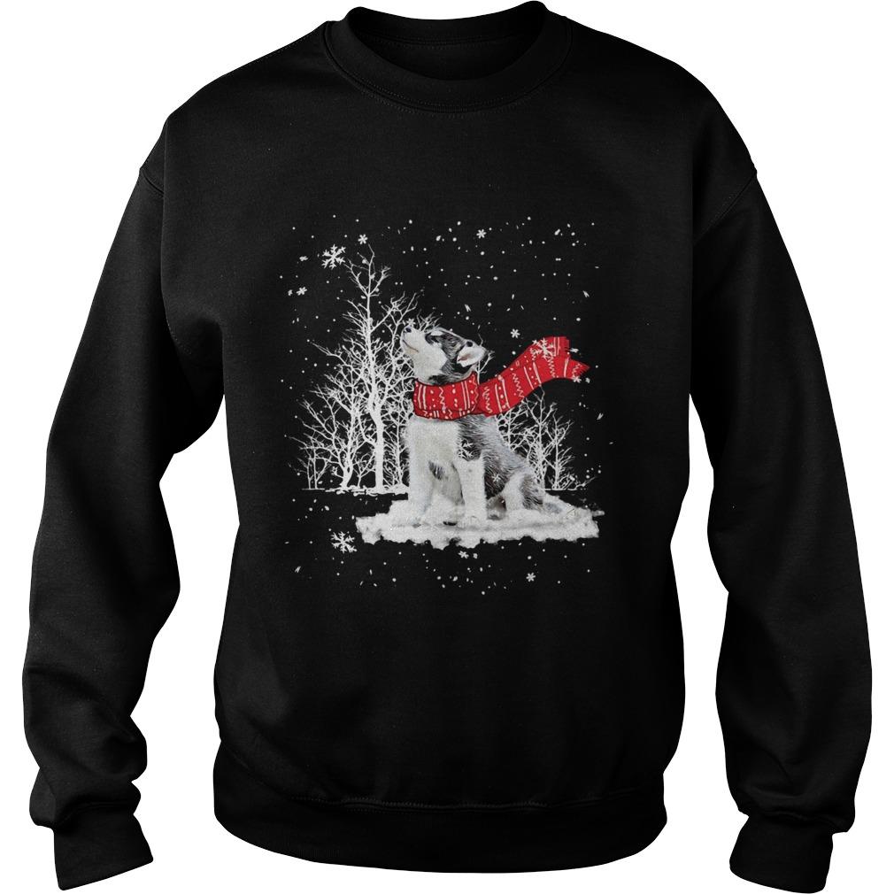 Siberian Husky Snow Crewneck  Sweatshirt