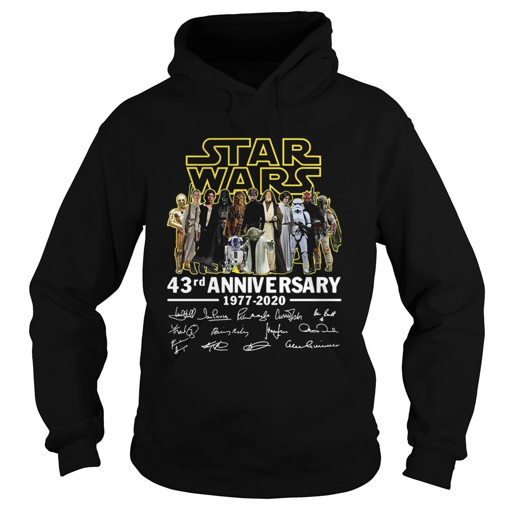 Star Wars 43rd Anniversary 19772020 Signatures  Hoodie