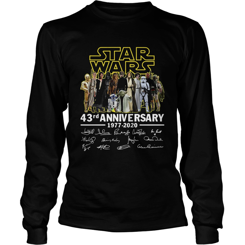 Star Wars 43rd Anniversary 19772020 Signatures  LongSleeve
