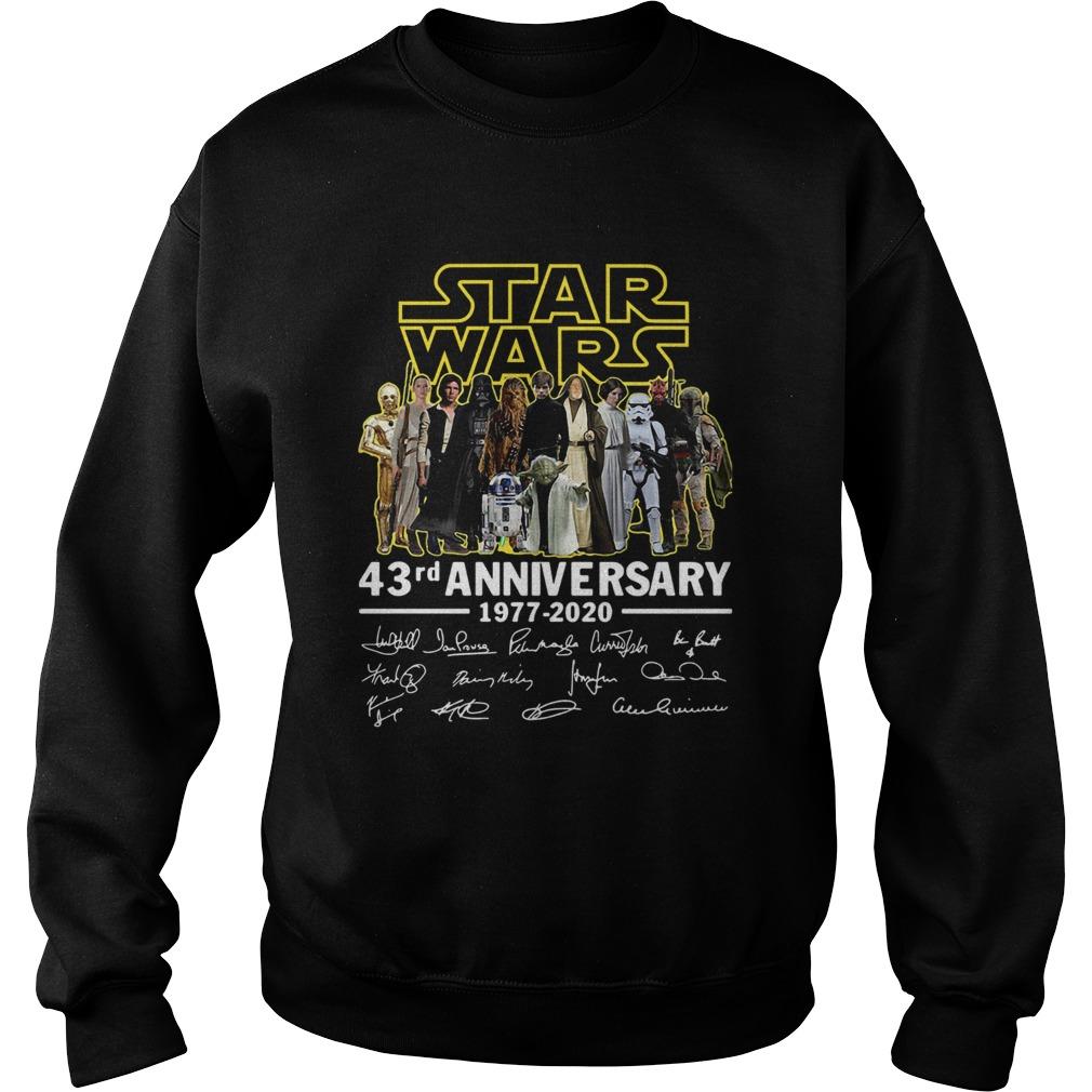 Star Wars 43rd Anniversary 19772020 Signatures  Sweatshirt