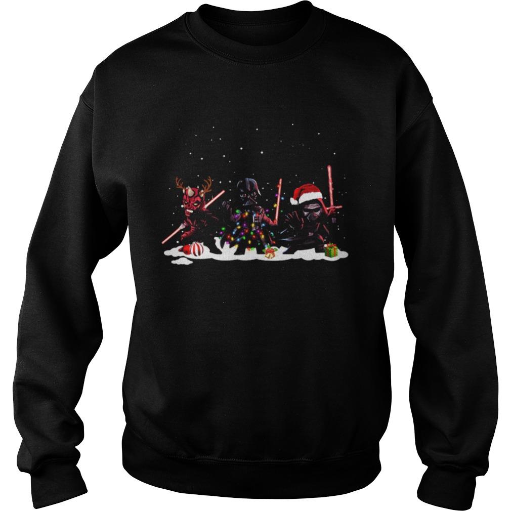 Star Wars Darth Maul Darth Vader Kylo Ren Christmas  Sweatshirt