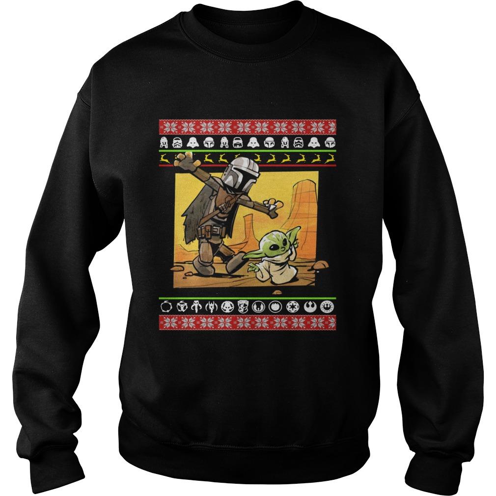 Star Wars Stormtrooper And Baby Yoda Christmas  Sweatshirt