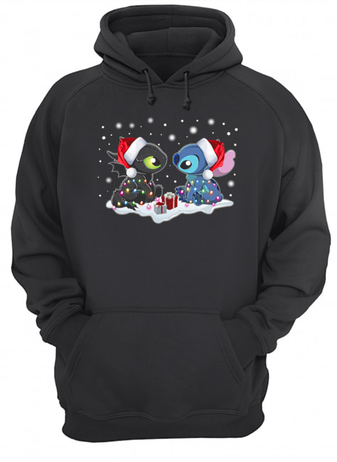 Stitch and Toothless Christmas  Unisex Hoodie