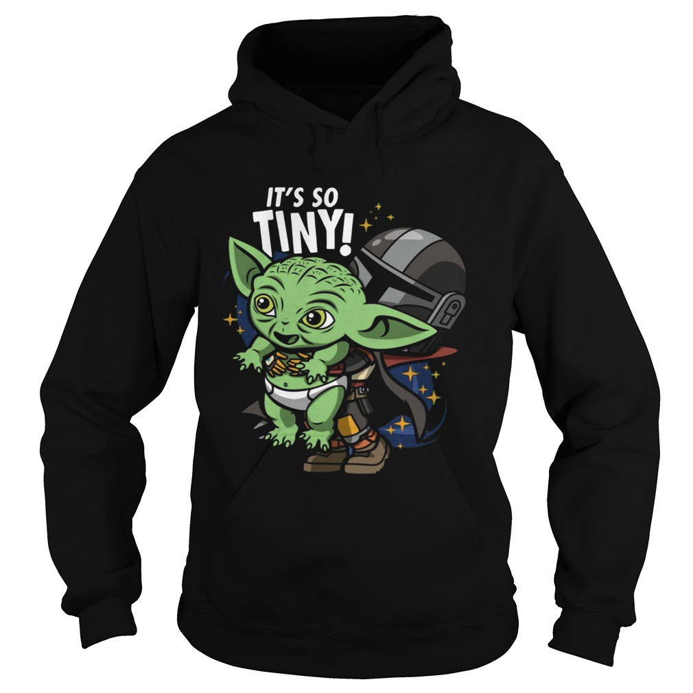 Stormtrooper and Baby Yoda Its So Tiny  Hoodie