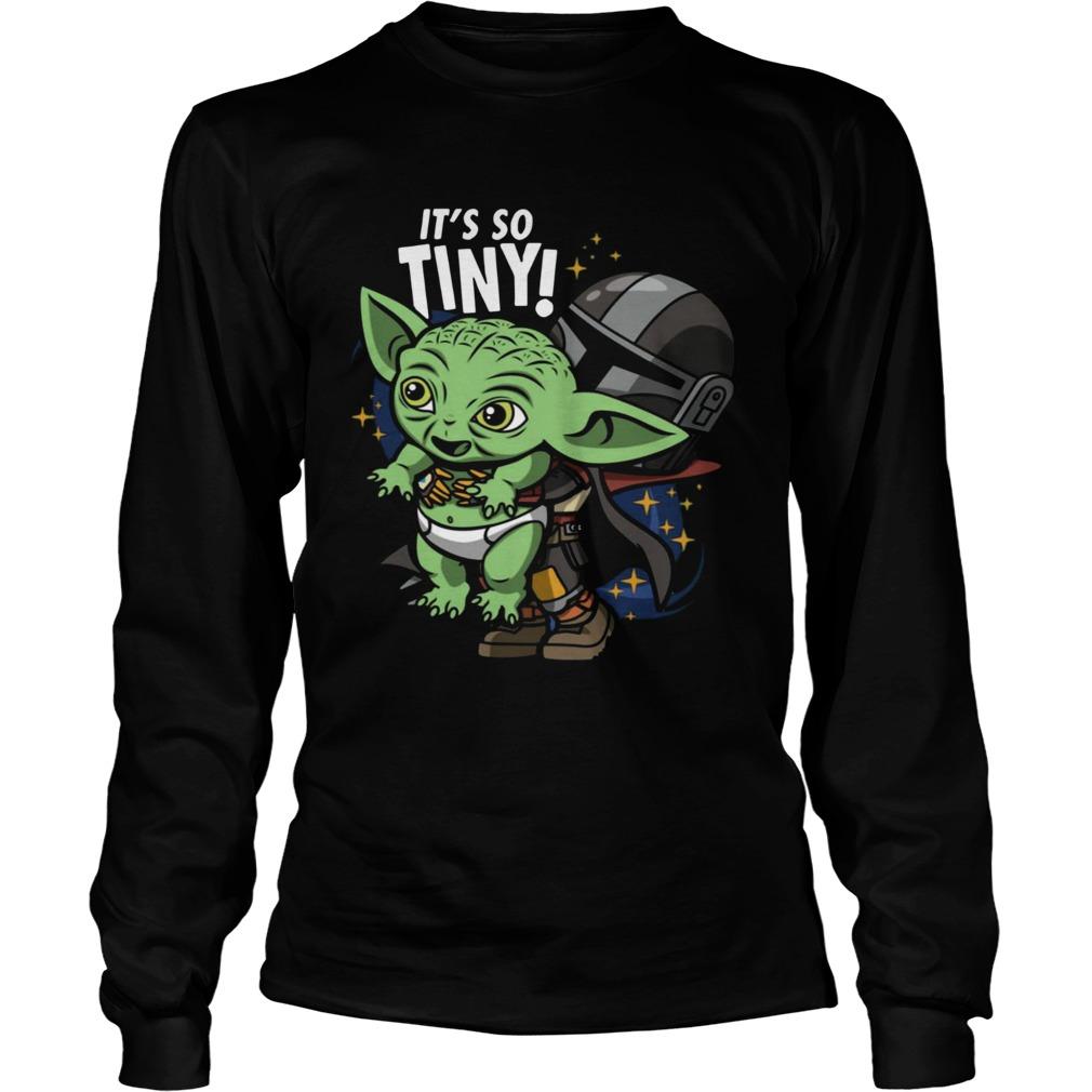 Stormtrooper and Baby Yoda Its So Tiny  LongSleeve