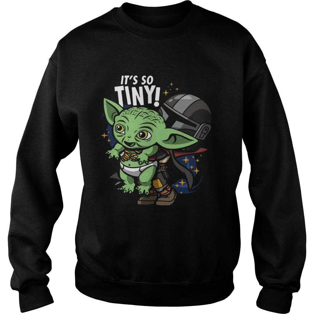 Stormtrooper and Baby Yoda Its So Tiny  Sweatshirt