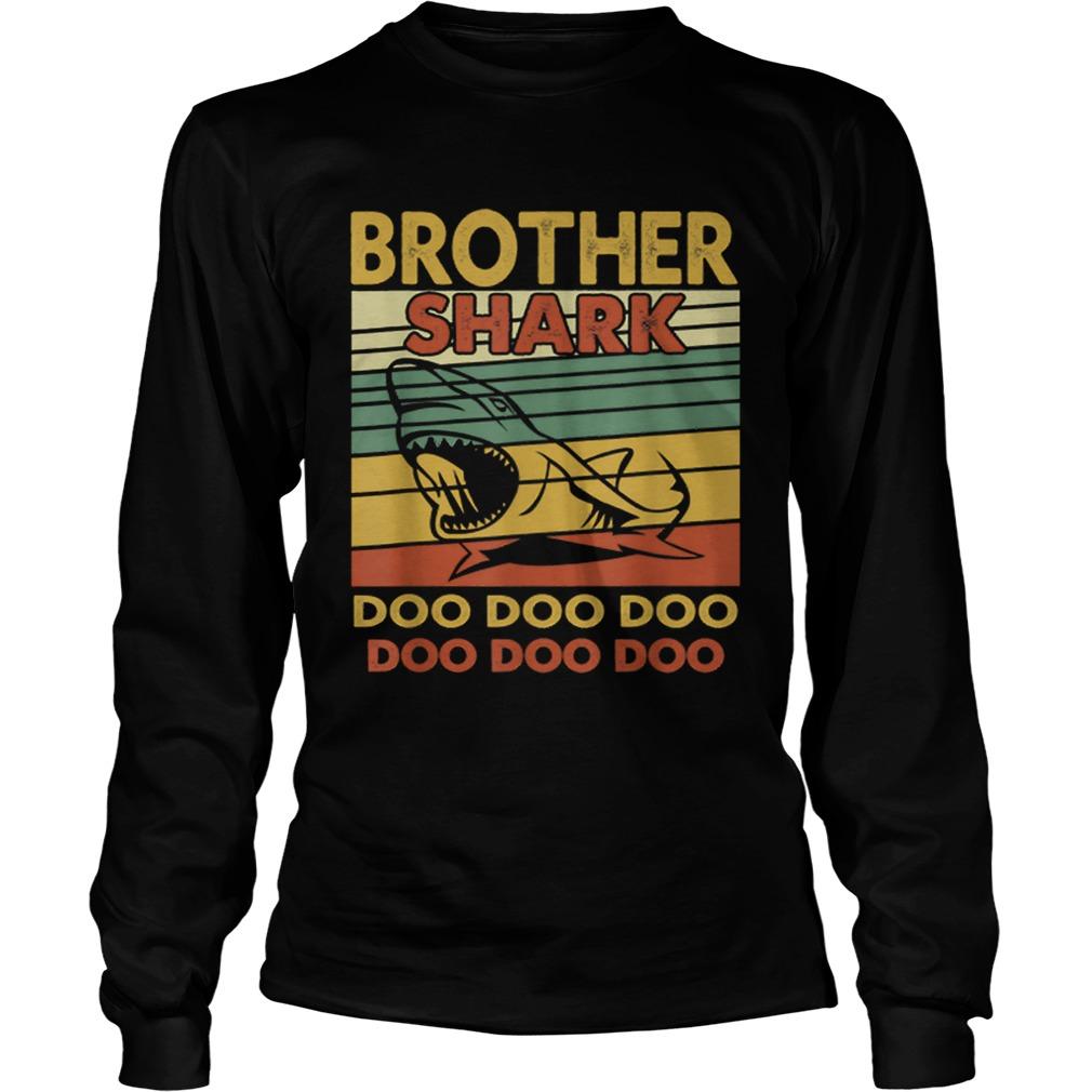 Vintage Brother Shark Doo Doo Santa Christmas Matching Gift  LongSleeve