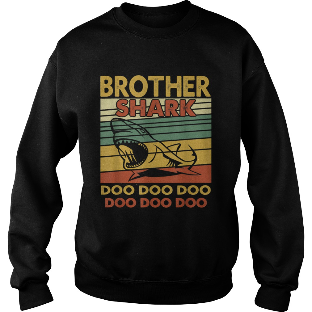 Vintage Brother Shark Doo Doo Santa Christmas Matching Gift  Sweatshirt