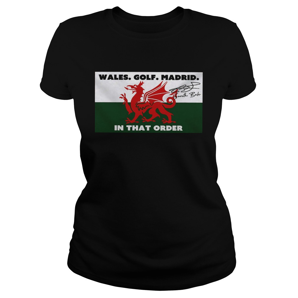 Wales golf madrid in that order Gareth Bale signature  Classic Ladies
