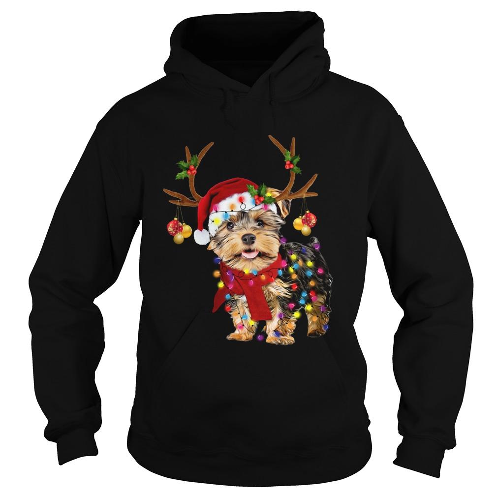 Yorkshire Terrier Gorgeous Reindeer Christmas  Hoodie