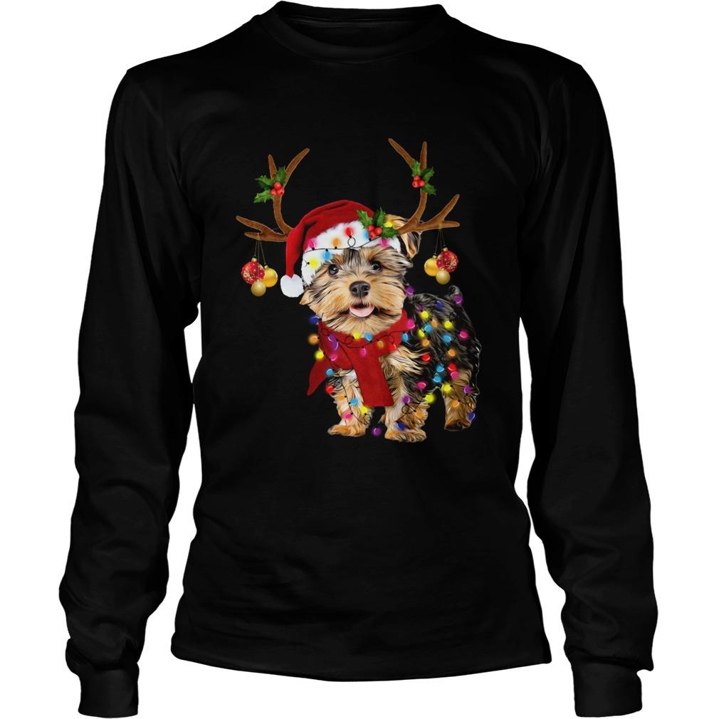 Yorkshire Terrier Gorgeous Reindeer Christmas  LongSleeve