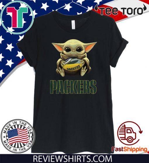 Original Baby Yoda Hug Green Bay Packers T Shirt Hoodie Sweatshirt And Long Sleeve