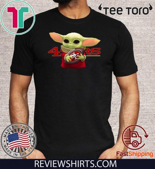 Baby Yoda Hug San Francisco 49ers Shirt T-Shirt