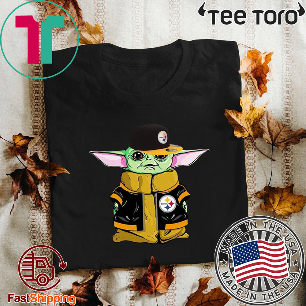 Baby Yoda Steelers player Offcial T-Shirt