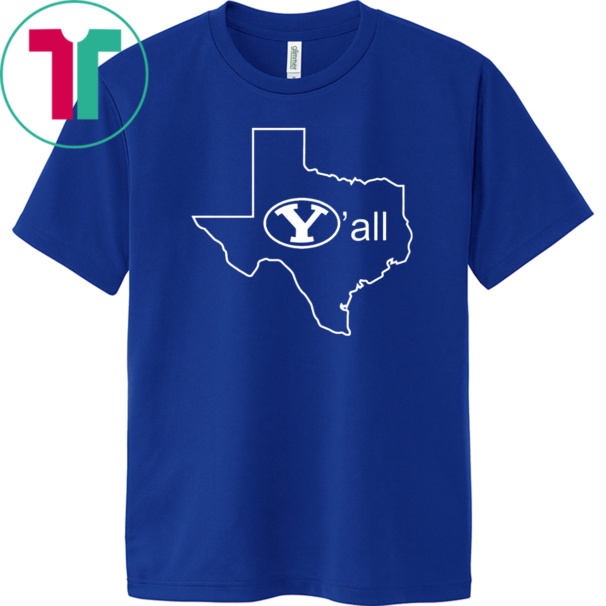 BYU Y'ALL TEXAS Y'ALL TEE SHIRT