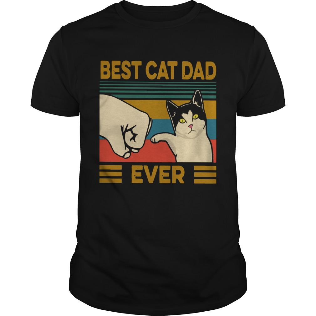 Vintage Best Cat Dad Ever  Unisex