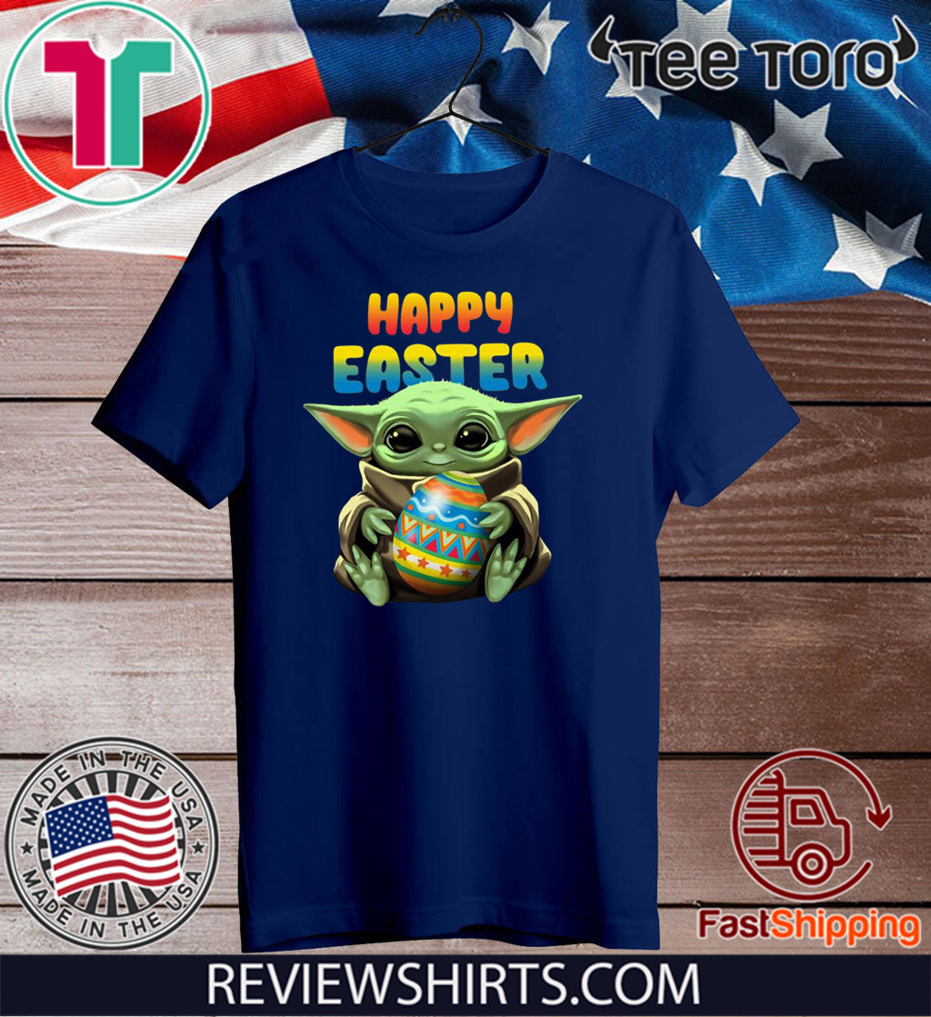Baby Yoda hug Happy Easter Shirts