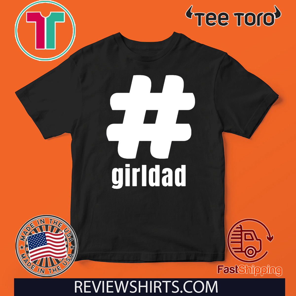 #girldad Girl Dad Father of Girls 2020 T-Shirt